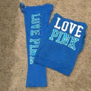 Vs pink matching hoodie and pants